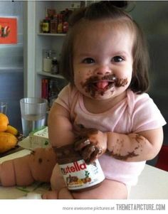 That's one way to eat Nutella…