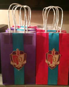 Ever After High Party Bags for Royals & Rebels... Homemade by me for Gabriela's EAH birthday party!!!!