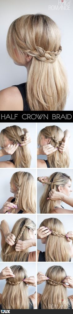 Half Crown Braid - Tutorial