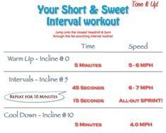 Short & Sweet Interval Workout TIU