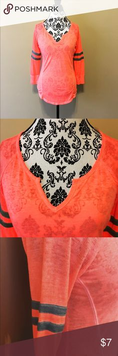 Thermal Top by No Boundaries Bright Orange Thermal Top by No Boundaries ~ Size: Juniors M (7-9) ~ Brand New No Boundaries Tops Tunics