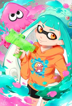 Wheeew, this took a while to finish! But yeah, Splatoon is awesome and of course I had to draw a fanart! I play the game every day, and I love everything about it! The game modes, especially multip...