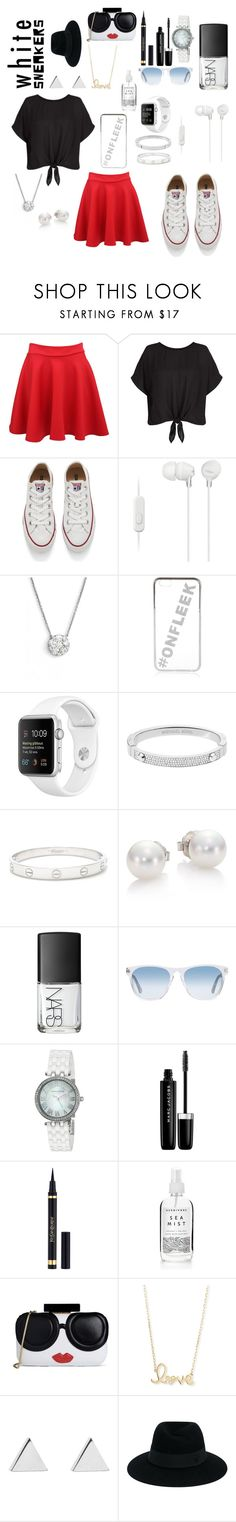 """""""Ataria"""" by ivyball ❤ liked on Polyvore featuring Pilot, New Look, Converse, Sony, Bony Levy, River Island, Michael Kors, Cartier, Mikimoto and NARS Cosmetics"""