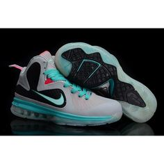 on sale 5b1c2 336d7 cheap new Womens Nike Lebron James 9 shoes Green Grey Black