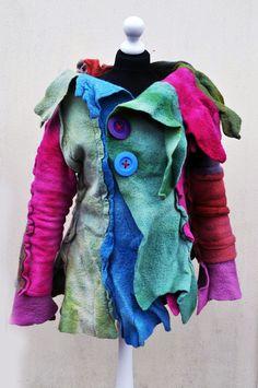 Vest, felted, felt, wool, brown, yellow, grey, fibre art, gift, size Small     Bolero, felted, felt, wool, pink, fibre art, gift, size Medium, small Large     Vest, felted, felt, wool, turquoise, blue, purple, fibre art, gift, size Medium, small Large     Felted skirt, blue, purple, pink, wool, merino wool, gift, fibre art,  £148.90 GBP Only 1 available Favorite Shop      AleksandrabWiniarska