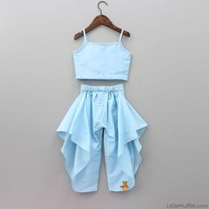 Beautiful pastel 2 piece dress , perfect for festive occassions Baby Girl Party Dresses, Dresses Kids Girl, Kids Outfits, Kids Frocks Design, Baby Frocks Designs, Baby Girl Fashion, Kids Fashion, Kids Western Wear, Backless Homecoming Dresses