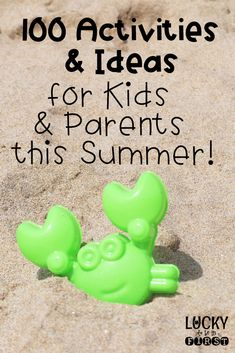 Check out these 100 Activities & Ideas for kids & parents this summer! Grab the FREEBIE and keep track of what you've done!