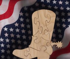 Western Boot Puzzle by DukesScrollSaw on Etsy, $5.00
