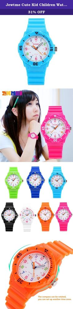 "Jewtme Cute Kid Children Watch Colorful dial Watches For Boys Girls Students-Light blue. Gender: Unisex Style: Sport Movement: Quartz Water-proof: 5ATM Case material: plastic Band Material: Rubber Color: as picture Clasp type: buckle Features (Approx): Watchcase Diameter: 3.3cm (1.30"") Watchcase Thickness: 1.0cm (0.39"") Band Length (Included the case): 22.00cm (8.66"") Watchband Width: 1.5cm (0.59"") 100% brand new and high quality sport watch from large manufacturer High quality Japan..."