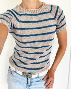 Crochet Jumper, Sweater Knitting Patterns, Knitting Designs, Knit Patterns, Knitting Projects, Knit Crochet, Camilla, Summer Knitting, Knit Shirt
