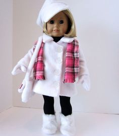American Girl Doll Toasty Warm White Fleece by SewSpecialByBarb, $45.00: