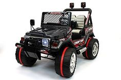 2016 Black Jeep Wrangler Power Kids 12V Ride on Toy Remote Control Battery Wheels Rc Style Car for Kids
