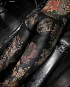 Progress Of Negative Legs By Maxrathbone_Tattooer At Secondcitytattooclub In Birmingham United Kingdom. Asian Tattoos, Sexy Tattoos, Unique Tattoos, Life Tattoos, Beautiful Tattoos, Black Tattoos, Tattoos For Women, Foot Tattoos, Body Art Tattoos