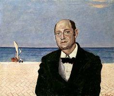 Umberto Saba (9 maart 1883 – 25 augustus 1957) - Portret door Vittorio Bolaffio, 1946