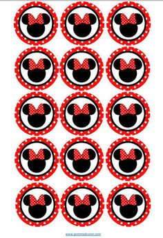 Fiestas (com imagens) Mickey E Minnie Mouse, Minnie Mouse Birthday Decorations, Fiesta Mickey Mouse, Mickey Party, Mickey Mouse Birthday, Minnie Mouse Stickers, Bottle Cap Images, Mickey And Friends, Names Baby