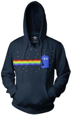 Doctor Who Nyan Tardis Hoodie: Clothing