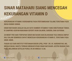 Sinar Matahari Mencegah Kekurangan Vitamin D ~ Infografis Kesehatan