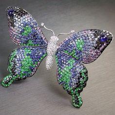 Sapphire Butterfly Brooch.