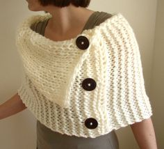 Simply Soft Wrap  Made to Order by moocowhandknits on Etsy