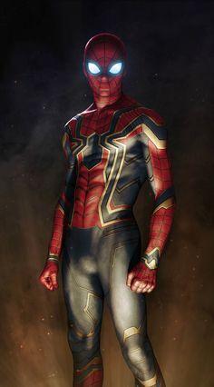 ArtStation - Iron Spider Armor Avengers: Infinity War (fan art), Sany Lebedev
