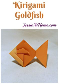 Origami is made entirely from folding paper, kirigami is made from both folding and cutting paper. The Kirigami Goldfish is an easy to create example. #Origami #kirigami #paperfolding #papercrafts #crafts #diy