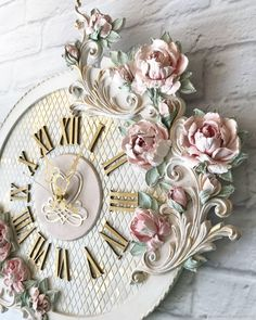 1 million+ Stunning Free Images to Use Anywhere Plaster Crafts, Clay Crafts, Shabby Chic Picture Frames, Art And Hobby, Clock Art, Ceramic Flowers, Cold Porcelain Flowers, Sculpture Painting, 3d Wall Art