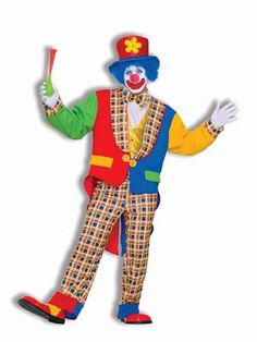 Clown On the Town Mens Costume