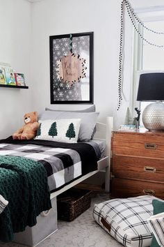 Leighton Twin-Over-Twin Bunk Bed via BHG Live Better influencer @madebycarli. #kidsroom #bedroom #twinbed #boysroom #kidsbedroomideas #cozybedroom #holidaykidsroom #bedroomfurniture #kidsfurniture Wood Bunk Beds, Twin Bunk Beds, Kids Bunk Beds, Creative Kids Rooms, Mattress Springs, Affordable Furniture, Cozy Bedroom, Fashion Room, Better Homes And Gardens