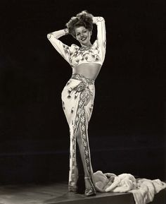 Gilda - two piece gown.   Rita Hayworth in 1946 beaded glamour.