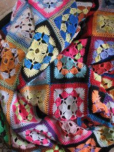 Vintage French granny crochet afghan large by HOPEFRENCHVINTAGE, €60.00