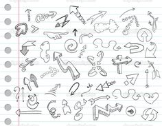 Arrow doodles — Stock Vector © yayayoyo #3766483