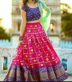 """LEHENGA DETAIL FABRIC : Heavy Banglory Satin_ Semi Stitched _Up to 44"""" Size (LENGTH : 44) CHOLI DETAIL FABRIC : silk Un-Stitched 0.80mtr DUPATTA DETAIL FABRIC :Georgette_ WORK : Embroidery lace-2.1 mtr"""