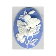 40x30 resin molded cameo blue butterfly by cameojewelrysupply