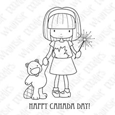 free digi canada girl sparkler beaver summer~ So adorable! Happy Birthday Canada, Happy Canada Day, Canada Day Party, Doodle People, Spectrum Noir Markers, Canada Images, Patch Aplique, Doodle Inspiration, Mft Stamps