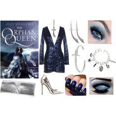 """""""The Orphan Queen by Jodi Meadows inspired book look"""" by beesha1 on Polyvore"""