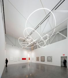 Ambienti Spaziali by Lucio Fontana, light installation, Gagosian Gallery, NY