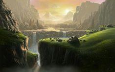 digitale landschaften | ... Landscapes & Scenery Wallpaper , Digital painting artworks , CG Senery