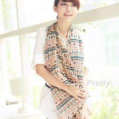 $ 3,99 Elegante protetor Velvet Lenço de seda com linhas coloridas e Impressões - BornPrettyStore.com
