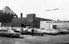 An old photo of downtown Burlington, Vermont