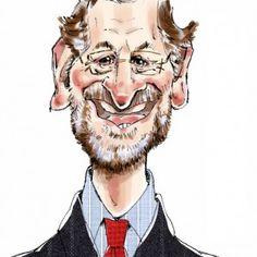 Caricatura de famosos: Presidente Mariano Rajoy. Caricatura Digital. Anton, Joker, Humor, Comics, Memes, Caricatures, Fictional Characters, Google, World