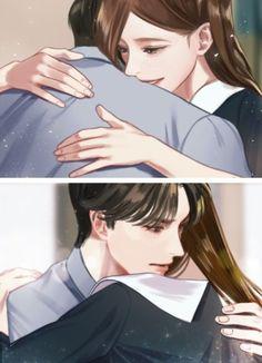 너에게만 유혹적인 -로맨스 : 네이버 블로그 Romantic Anime Couples, Sketches Of Love, Cute Anime Coupes, Manga Cute, Korean Couple, No One Loves Me, Aesthetic Art, Gotham, Webtoon