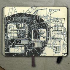 Cranes, 2014_Drawing (ink on paper)_Mariasun Salgado