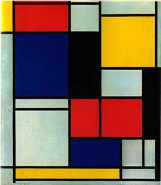 Piet Mondrian March 7, 1872 – February 1, 1944), was a Dutch painter. He was an important contributor to the De Stijl art movement and group. He evolved a non-representational form which he termed Neo-Plasticism. This consisted of white ground, upon which was painted a grid of vertical and horizontal black lines and the three primary colors.