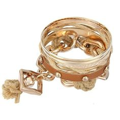 Yoins Punk Stud Tassel Bracelet Set in Camel (¥2,405) ❤ liked on Polyvore featuring jewelry, bracelets, camel, charm bangle, charm jewelry, punk rock jewelry, punk jewelry and camel jewelry