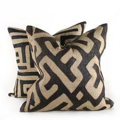 Kuba Cloth Pillow - All Home Accessories - All Soft Goods - Best Sellers - Decorative Throw Pillows - Pfeifer Finds @ Pfeifer Studio- Detail