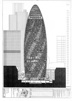 The Gherkin Sketch by Norman Foster + Partners