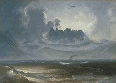 Peder Balke - The Trolltindene Range, about 1845