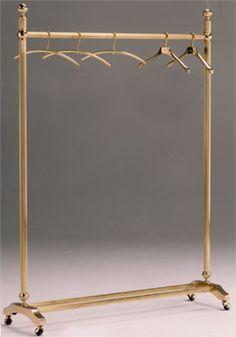 gold garment rack .