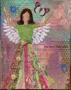 """""""Believe""""  Mixed media woman on canvas, 8x10"""