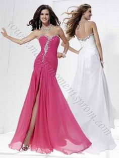 Pink & White Pageant Dresses